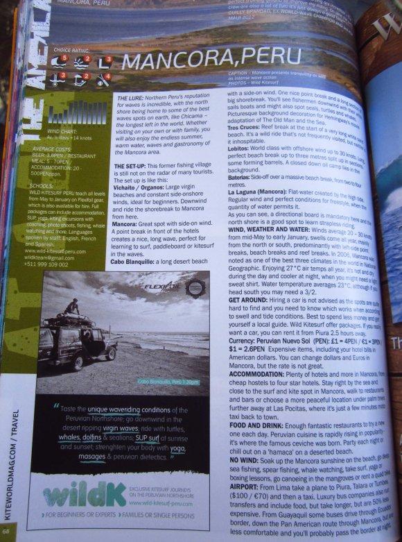 Wild K in kiteworld mag