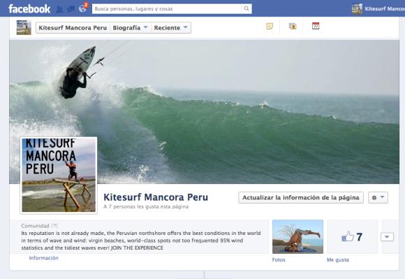 Kitesurf Mancora Peru facebook page